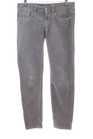 Closed Pantalone di velluto a coste grigio chiaro stile casual