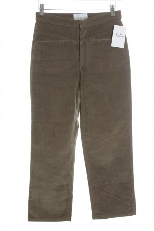 Closed Cordhose hellbraun Casual-Look