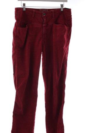 """Closed Pantalone di velluto a coste """"Pedal Stream"""" rosso lampone"""