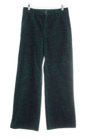 Closed Pantalon en velours côtelé vert forêt motif rayé style décontracté