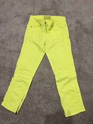 Closed Jeans a 7/8 giallo neon Cotone