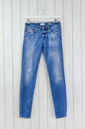 CLOSED Damen Jeans Denim Mod.BAKER LONG Blau Used Baumwolle Elastan Gr.25
