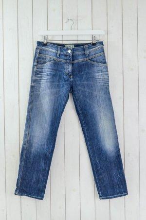CLOSED Damen Jeans Denim Mod Pedal Position Blau Used Baumwolle Elastan Gr.46