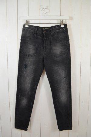 CLOSED Damen Jeans Mod. Lindsay Schwarz Grau Vintage Look Baumwollgem. Gr.25