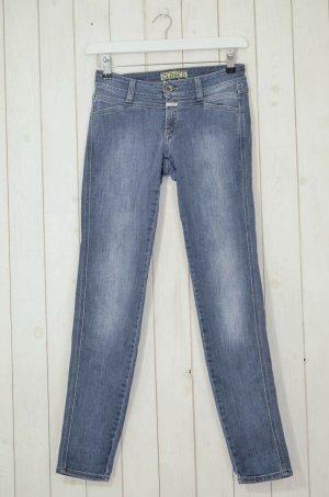 CLOSED Damen Jeans Slim Fit Grau Stretch Baumwollgemisch Gr.28