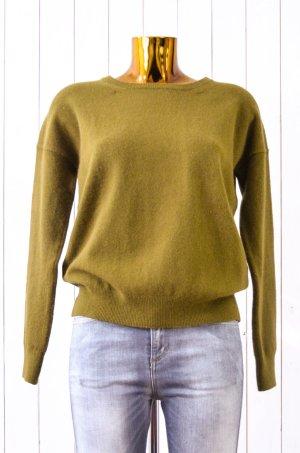 CLOSED Damen Pullover Strickpullover Strick Rundhals Oliv Angora-Woll-Gem. Gr.S