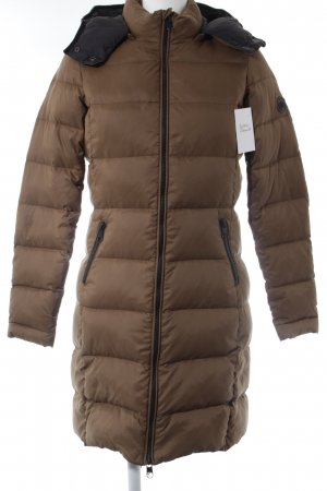 Closed Down Jacket light brown-black quilting pattern casual look