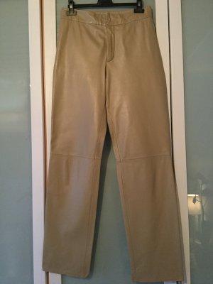 Closed Pantalón de cuero beige