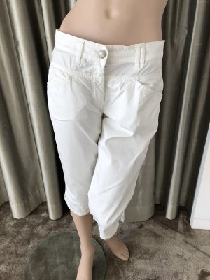 Closed 3/4 Length Trousers white mixture fibre