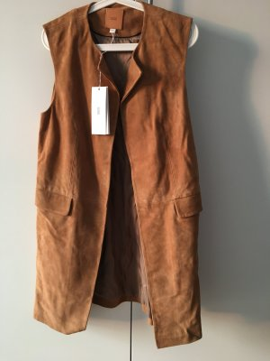 Closed Leather Vest cognac-coloured-brown