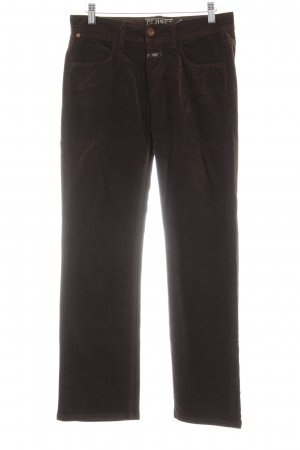 Closed Five-Pocket-Hose dunkelbraun Casual-Look
