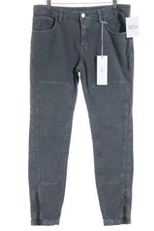 Closed Five-Pocket-Hose graublau Casual-Look