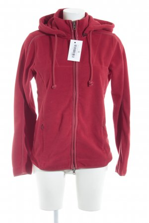 Closed Fleecejacke ziegelrot Casual-Look