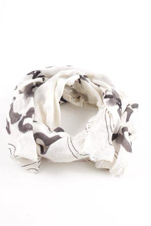 Closed Fransenschal schwarz-weiß abstraktes Muster Casual-Look