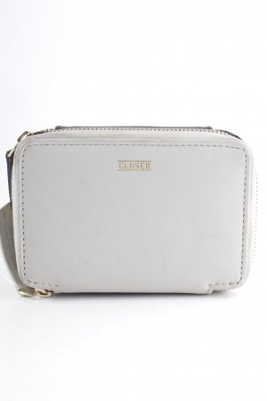 Closed Wallet black-cream simple style