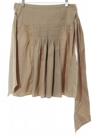 Closed Falda acampanada beige look casual