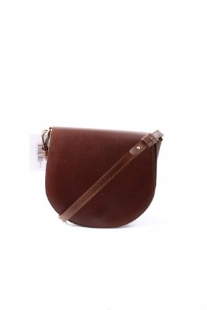 "Closed Handtasche ""Saddle Bag Leather Mocca"" dunkelbraun"