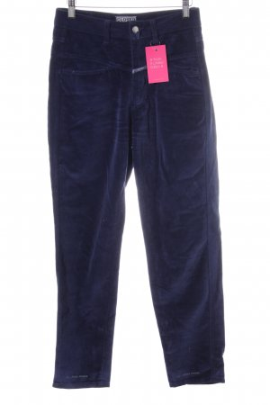 Closed High-Waist Hose blau Casual-Look