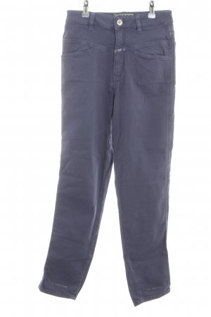 Closed High Waist Trousers blue casual look