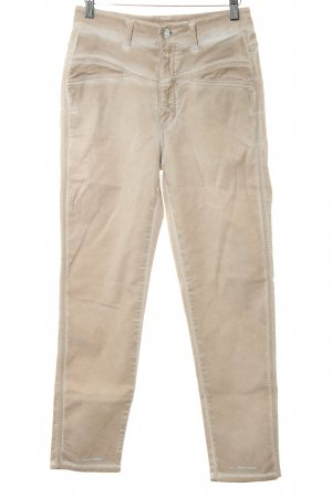 Closed High Waist Trousers beige casual look