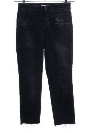 Closed High Waist Jeans black casual look