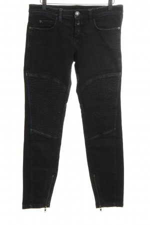 Closed Hoge taille jeans zwart Jeans-look