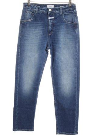 Closed High Waist Jeans blau-wollweiß Washed-Optik