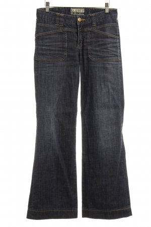 Closed High Waist Jeans dunkelblau Street-Fashion-Look