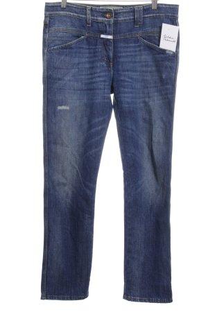 Closed High Waist Jeans dunkelblau Street-Fashion-Look