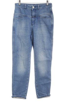 Closed High Waist Jeans stahlblau Washed-Optik