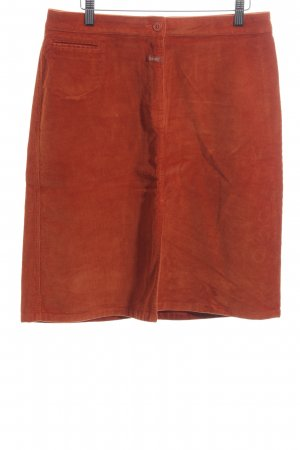 Closed High Waist Rock rot Casual-Look