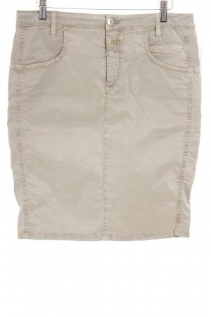Closed High Waist Rock grüngrau Casual-Look