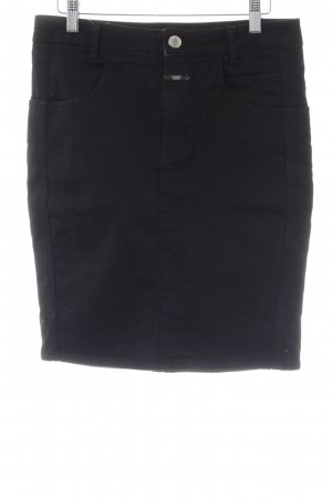 Closed High Waist Rock schwarz Business-Look