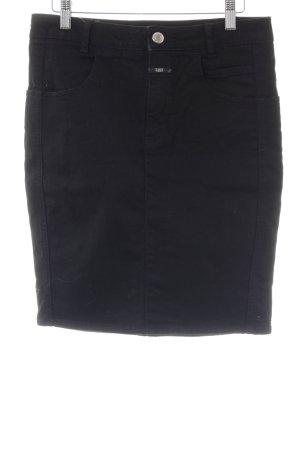 Closed Falda de talle alto negro estilo «business»