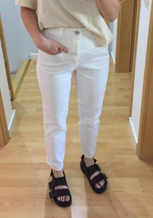 Closed High Waist Jeans white cotton