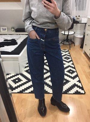 Closed Jeans a vita alta blu-blu scuro