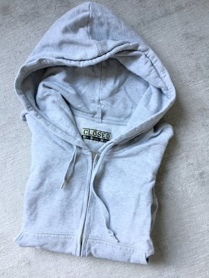 Closed Hooded Sweater light grey cotton
