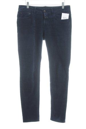 Closed pantalón de cintura baja azul oscuro moteado look casual
