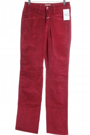 Closed Lage taille broek donkerrood casual uitstraling