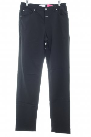 Closed Low-Rise Trousers black simple style