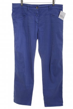 Closed Low-Rise Trousers steel blue casual look