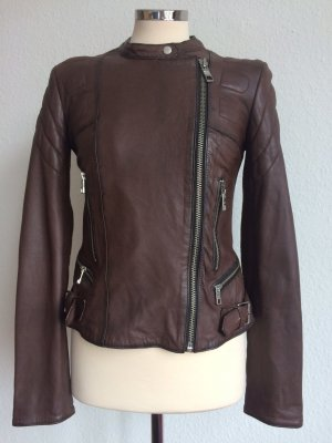 Closed Biker Jacket brown leather