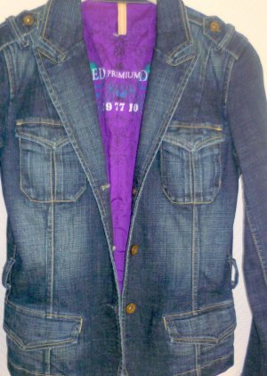 Closed Denim Blazer dark blue cotton