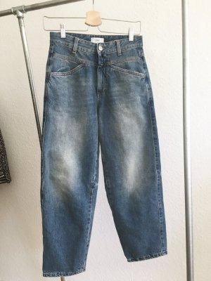 Closed Hoge taille jeans blauw-lichtblauw Katoen