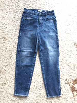 Closed Hoge taille jeans staalblauw Katoen