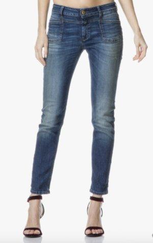 CLOSED JEANS Pedal X Hose Blau 32/34 Straight Leg Cotton Denim Pants Blue XS 24