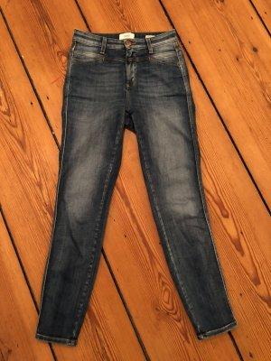 CLOSED Jeans Skinny Pusher Dunkelblau Denim 24 bequem hoher Elastananteil