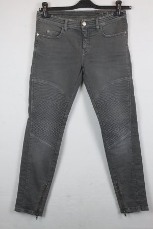 Closed Jeans Slim Fit Gr. 27 grey denim Bikerlook (MF/SC/R)
