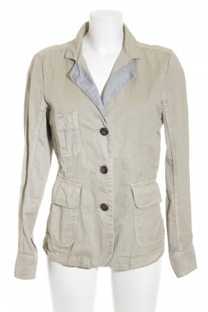 Closed Jeansblazer creme-hellgrau Business-Look