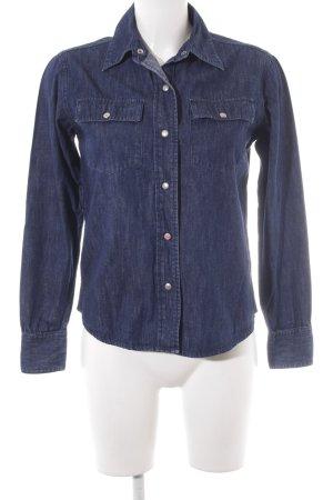 Closed Denim Shirt dark blue casual look